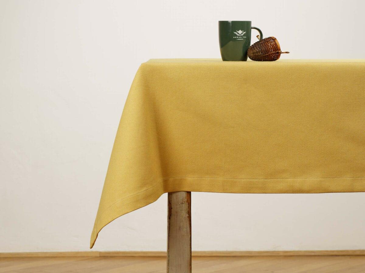 Obrus - Jacquard twill yellow